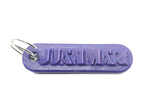 JUANMARI Personalized keychain embossed 3D print model
