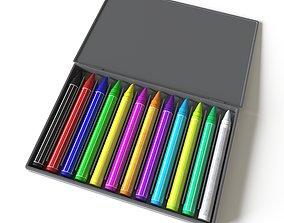 pencil 3D Pastel color box
