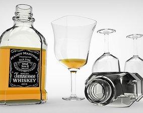 beverage 3D print model Whisky Bottle