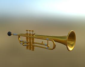 3D asset Trumpet 01 PBR