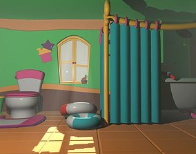 film Asset - Cartoons - Bathroom 3D model