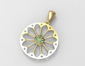 3D printable model Pendant whit gems