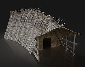 3D asset Viking Norseman Medieval House Hut Cottage 2