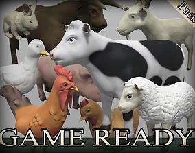 Farm Animals Pack 3D model