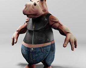 King Hippo 3D Print Model printable