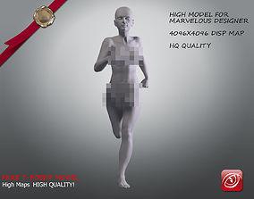 Woman A Testing model - Marvelous Designer Run low-poly