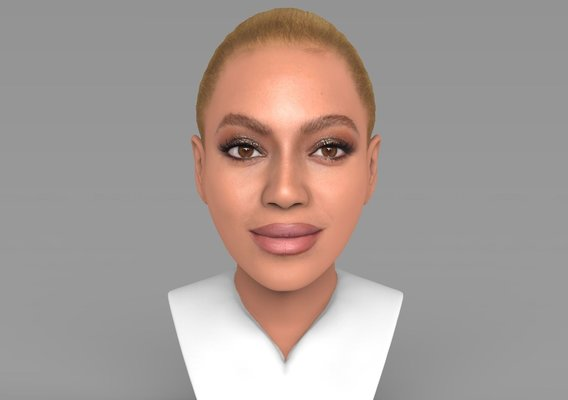 Beyonce bust for full color 3D printing