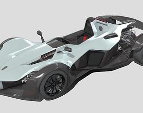 VR / AR ready BAC Mono Sport Car dae fbx Collada 3ds