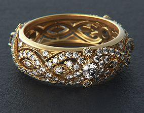 Jewelry diamond gems ring bangle 3D printable model