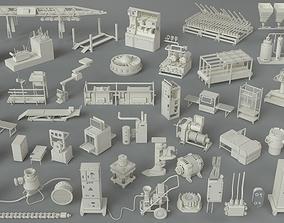 3D Factory Units-part-5 - 47 pieces