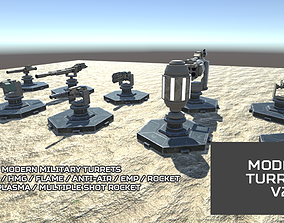 Modern Unmanned Turrets v2 3D model