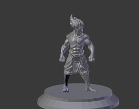 Halfling Monk 3D printable model