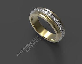 Classic Ring with movable part 3D printable model