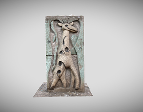 Stones with cartoon characters 4 3D asset