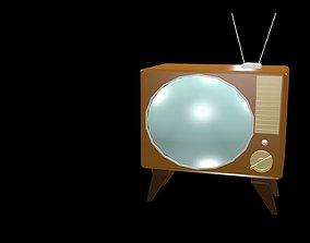 Low poly TV 3D asset