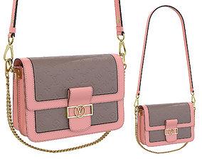3D model Louis Vuitton Dauphine Bag Pink