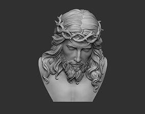 Jesus Bust Relief 3D print model