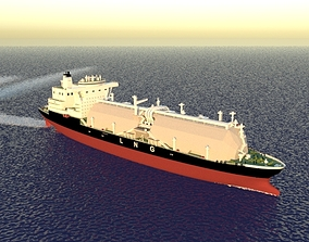 3D water Tanker Ship