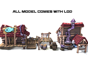 3D model Cartoon Medieval House