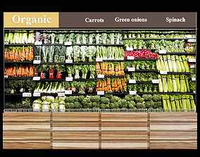 Vegetables fridge 3D
