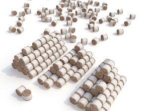 3D asset Rolls of hay V2