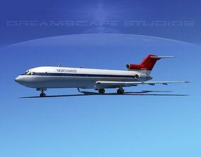 3D model Boeing 727-200 Northwest Airlines 1
