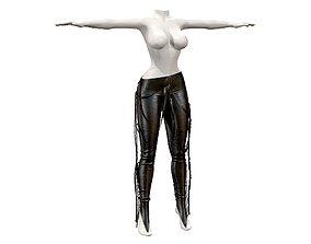 3D model Woman Leather Pants
