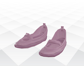 3D model VR / AR ready Shoes Sandals and 1