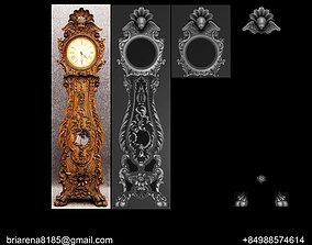 VICTORIAN CARVED OAK TALL CASE CLOCK 3D print model