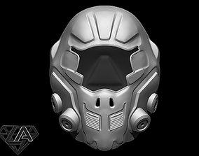 3D printable model SCI-FI Guardian custom helmet