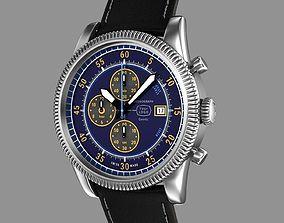 Chronograph wrist watch My own design 3D model swiss