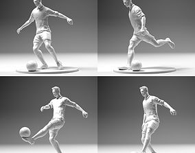 Footballer 02 Footstrike 4 in 1 Pack 3D printable model 1