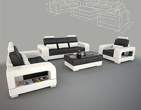 3D model Denver Sofa Set