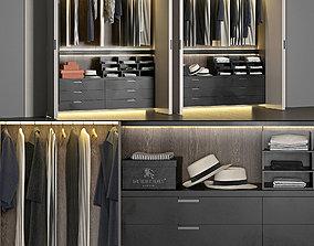wardrobe clothes Poliform rack 3D model