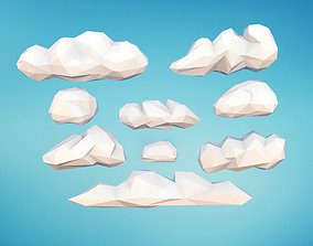 Low Poly Clouds 3D model