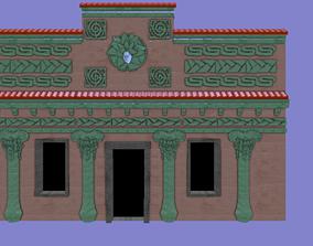 Brazilian Indiginious House Facade 3D model realtime