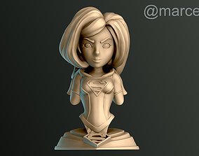 3D printable model Supergirl Bust
