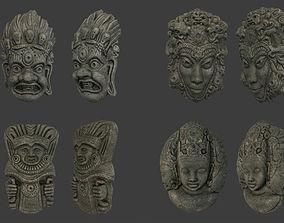 Tribal Masks Pack 3D model