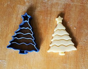 3D print model Christmas xmas tree cookie cutter