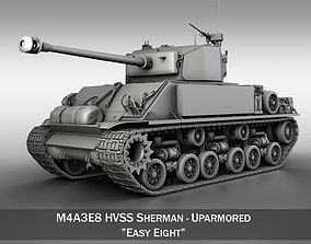 M4A3E8 HVSS Sherman - Uparmored 3D