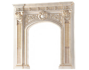 3D Arched doorway Arch in classic style