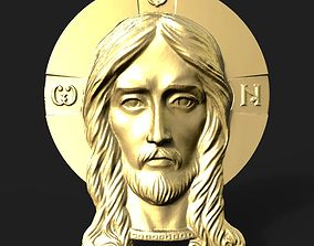 3D printable model zbrush Jesus head pendant