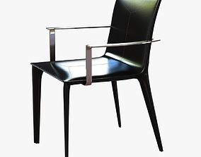 3D holly hunt adriatic dining arm chair