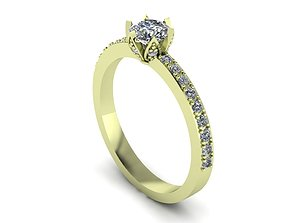 half round wedding ring 3D print model
