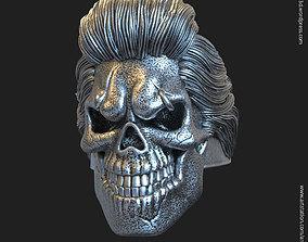 Skull bearded vol4 ring 3D print model