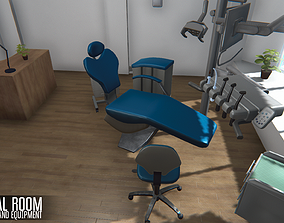 Dental room - interior and equipment 3D asset