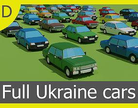 3D asset game-ready full Ukraine cars