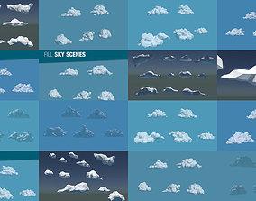 Low Poly Cloud Collection 3D model