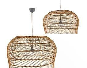 3D model Rattan lamp couleur locale