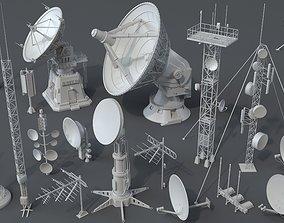 3D model Antennas - 20 pieces - part -2